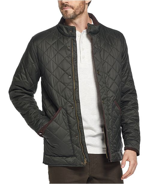 Weatherproof Vintage Men's Diamond Quilted Jacket, Created for .