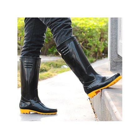 CBD - Mens' Basic Rain Boots Black Size 8 - Walmart.com - Walmart.c