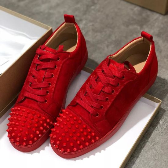 China 2019 Luxury Sneaker Studded Spikes Men Trainers Red Bottom .
