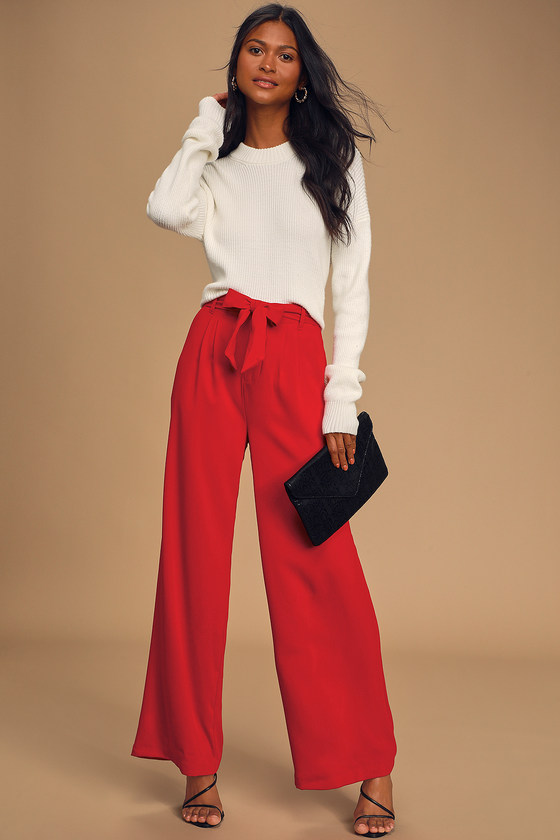 BB Dakota Wide Stride - Belted Pants - Wide-Leg Pants - Pan