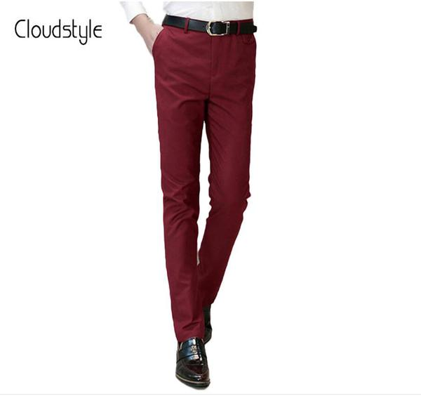 Cloudstyle 2018 New Arrival Fashion Brand Red Pants Men Plus Size .