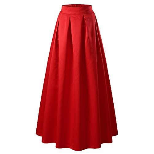 Red Long Formal Skirt: Amazon.c