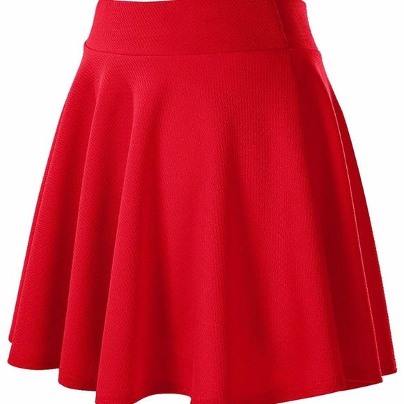41 Hawthorn Skirts | E Lined Red Skater Skirt | Poshma