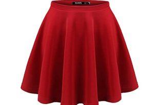 Dark Red Skirt: Amazon.c