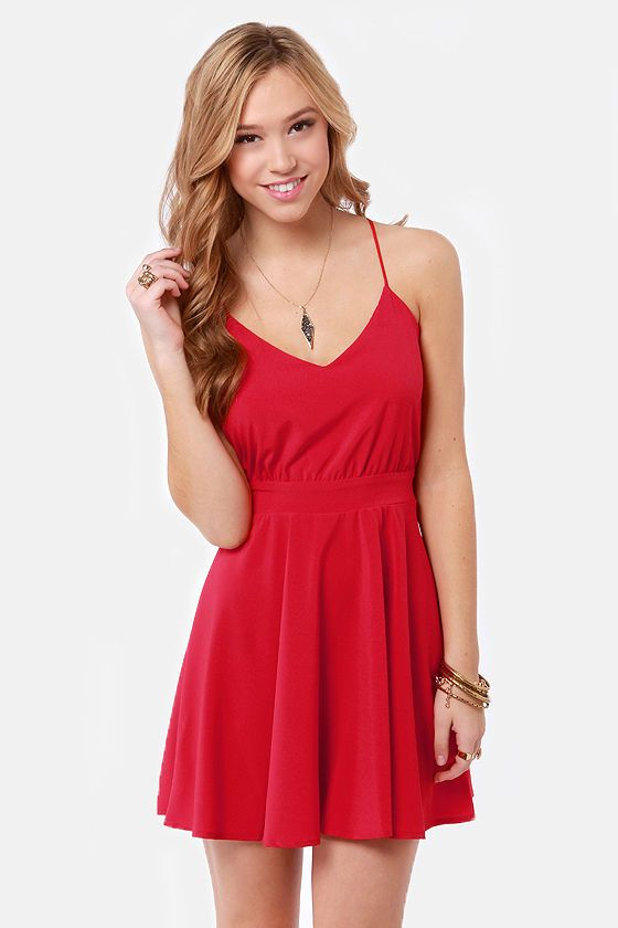 Lucy Love Penelope Red Dress | Red sundress, Dresses, Plus size .