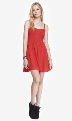 Express Red Cami Sundress, $59 | Express | Lookastic.c