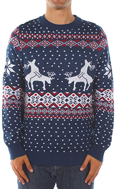Amazon.com: Tipsy Elves Men's Ugly Christmas Sweater - Reindeer .