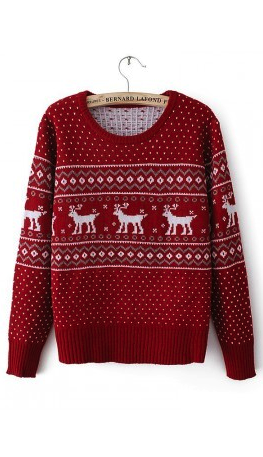 Red reindeer sweater | Christmas sweater outfits, Christmas .