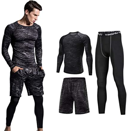Amazon.com : Lilongjiao Men's Sports Suits Quick-Drying Fitness .