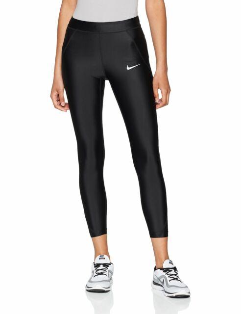Nike Black Women's Power Speed Cropped Running Leggings Large .