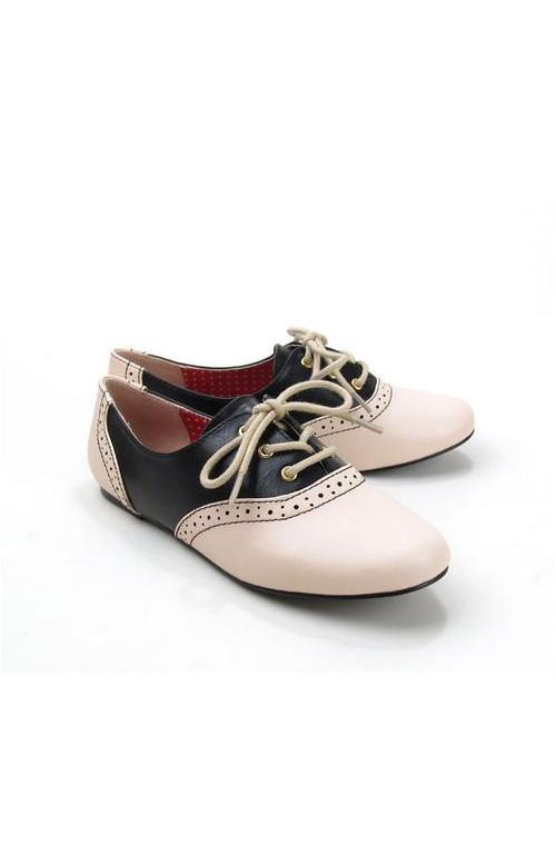 Emmie Black & Ivory Saddle Shoes by B.A.I.T. – Modern Millie Sh