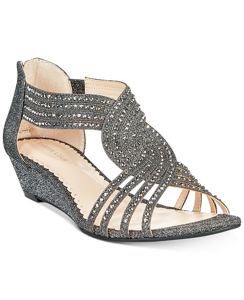 Charter Club Ginifur Wedge Sandals, Created for Macy's & Reviews .