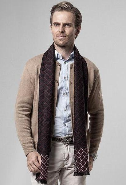 DANKEYISI Scarf Men Business Luxury Brand Plaid Cashmere Scarves .