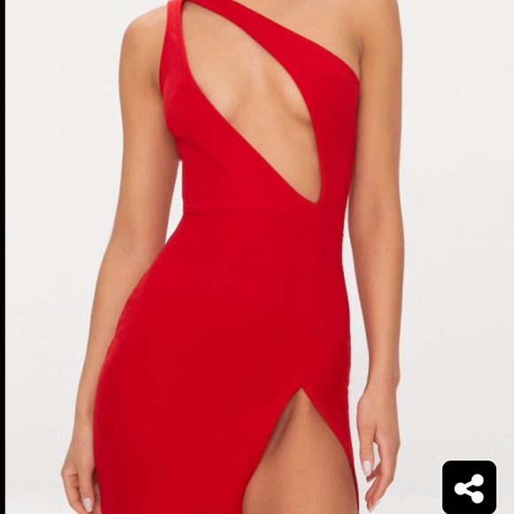 PrettyLittleThing Dresses | Sexy Club Dress Red | Poshma