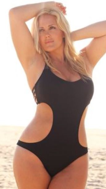 swimwear, black, plus size swimwear, one piece swimsuit, sexy .