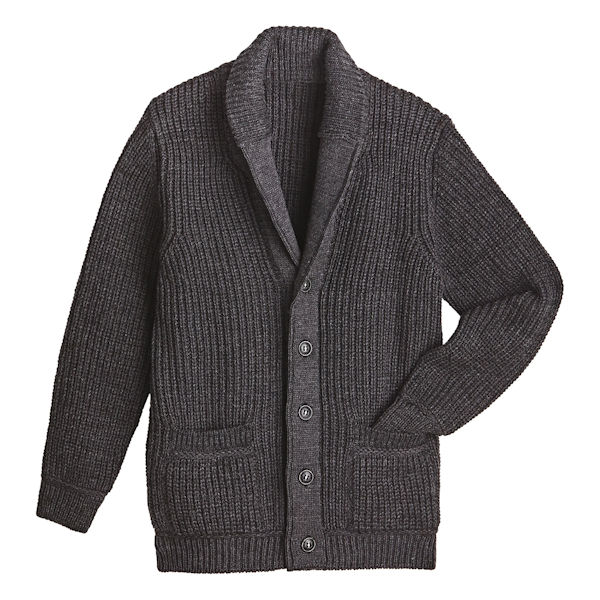 Men's Merino Shawl Collar Cardigan | 1 Review | 5 Stars | Acorn .