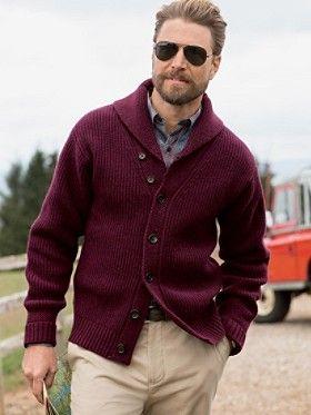 Garthwick #pendleton #ShawlCollarCardigan | Mens cardigan sweater .