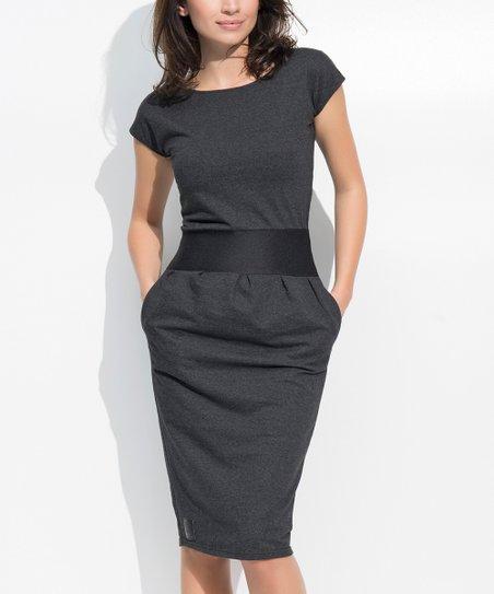 Numinou Graphite Melange Sheath Dress - Women | Zuli