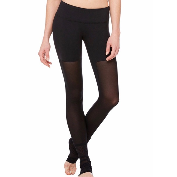 ALO Yoga Pants | Mesh Goddess Sheer Legging Black | Poshma