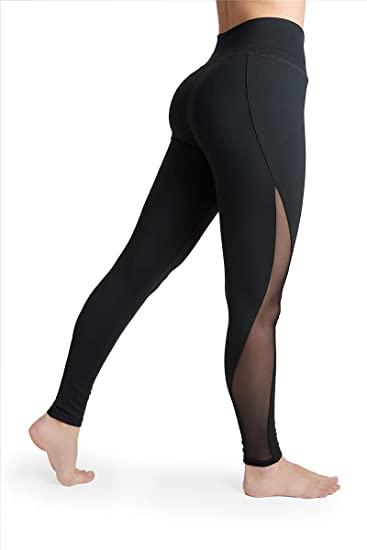 Liakada Ladies High-Waisted Sheer Legging - Gym, Dance, Yoga .