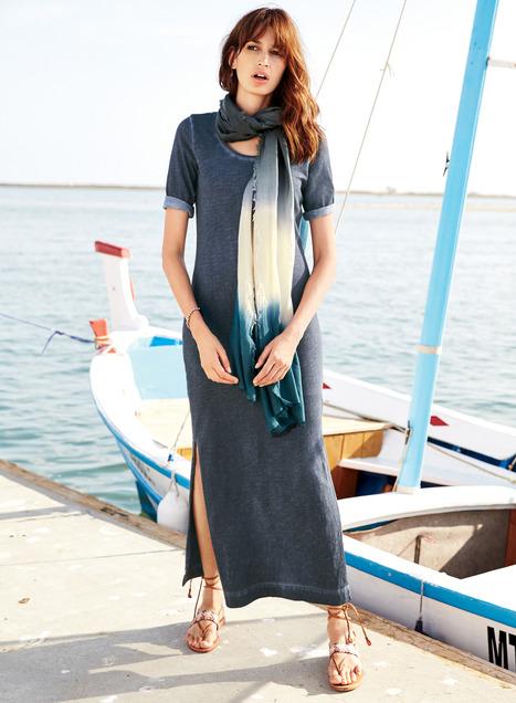 Vintage T-Shirt Dresses, Women's Cotton Travel Dresses, Long .
