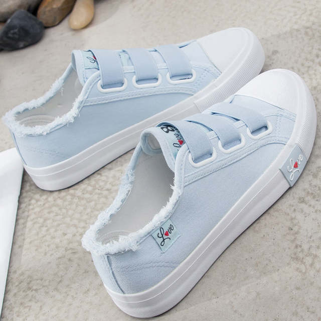 Women Sneakers Canvas Shoes For Women Fashion 2019 Solid Superstar .