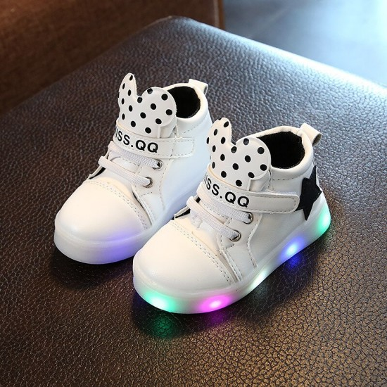 2019 new spring and autumn children's shoes LED light shoes girls .