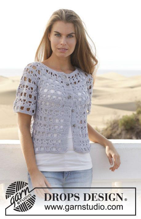 Crochet Nevertheless Women's Cotton Short Sleeve Cardigan Sweater .