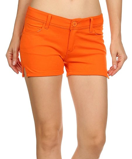 Orange Love Sweet Ponte Shorts - Women | Zuli