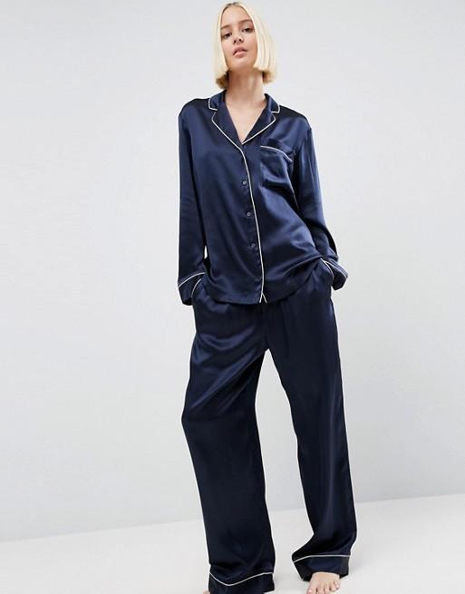 ASOS WHITE 100% Silk Pyjamas | AS