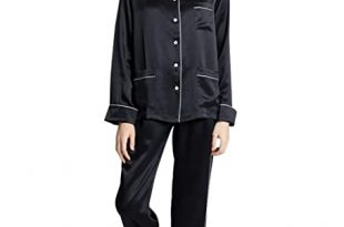 ElleSilk 100% Pure Silk Pyjamas Set for Women, Ladies Silk Pyjama .