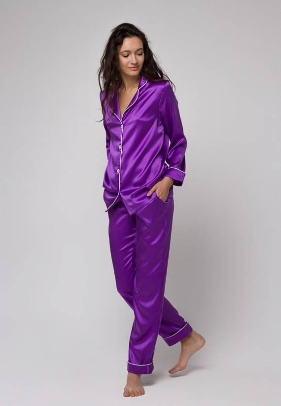 Silk pajamas set Silk long pajama Silk pyjamas womens Silk .