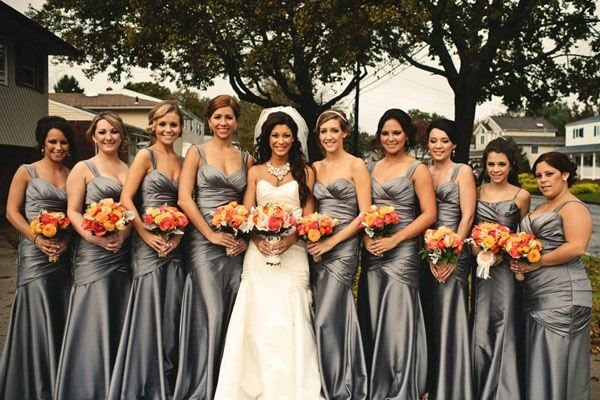 Wedding Dresses Ideas: About Silver Bridesmaid Dress