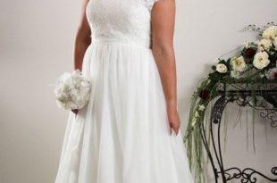 Simple plus size wedding dress Annie - Plus size Bridal | Plus .