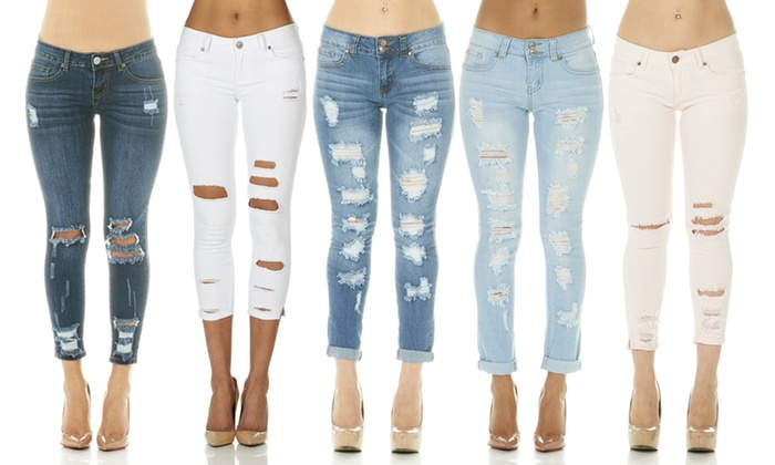 Up To 40% Off on Cover Girl Ripped Jeans w/Plus | Groupon Goo