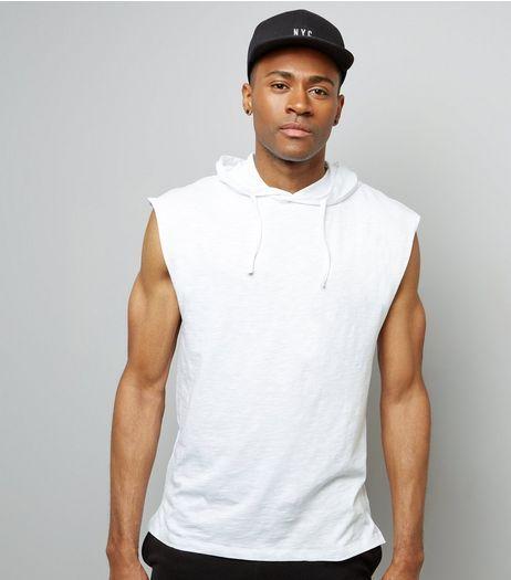 White Sleeveless Hoodie | New Look | Sleeveless hoodie men, Hoodie .