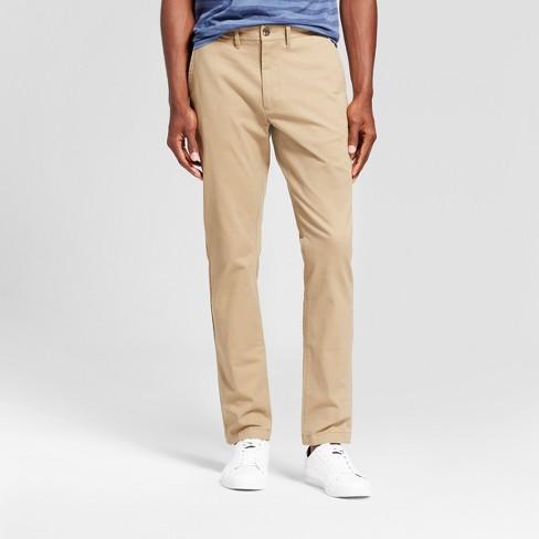 Men's Slim Fit Hennepin Chino Pants - Goodfellow & Co™ Tan 33X32 .