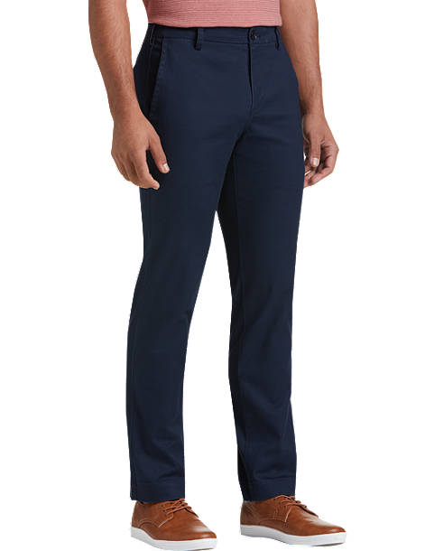 Joseph Abboud Dark Blue Slim Fit Chino - Men's Pants | Men's Wearhou