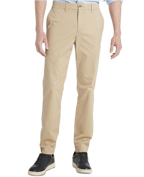 Tommy Hilfiger Men's TH Flex Stretch Slim-Fit Chino Pants, Created .
