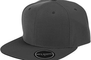 Nice Shades Plain Adjustable Snapback Hats Caps (Many Colors) Grey .