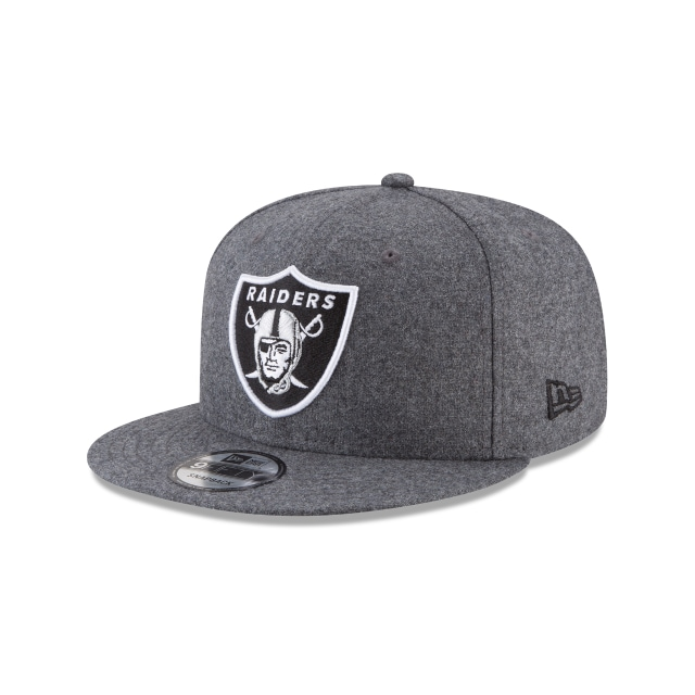 Oakland Raiders Melton Wool 9FIFTY Snapback Hats | New Era C