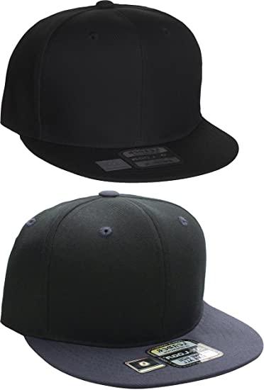 L.O.G.A. Plain Flat Bill Visor Blank Snapback Hat Cap with .