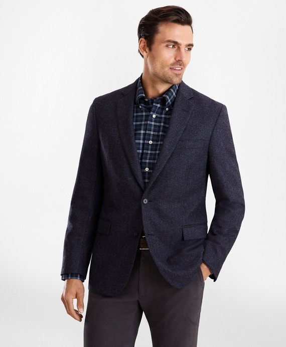 Regent Fit Herringbone Sport Coat - Brooks Brothe