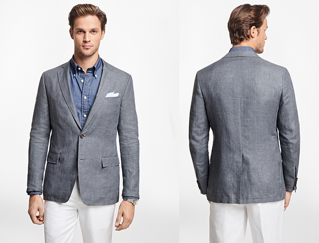 Here's a Lightweight, Slim Fit Linen Sport Coat From Brooks .