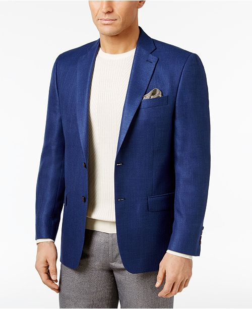 Lauren Ralph Lauren Men's Classic-Fit Neat UltraFlex Sport Coat .
