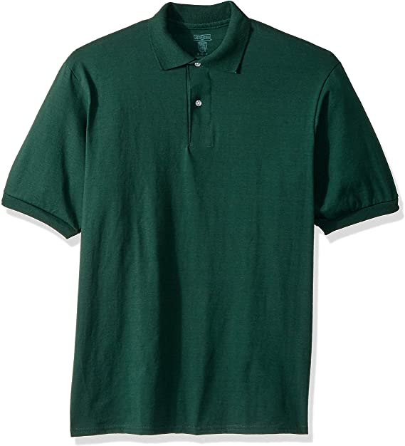 Jerzees Men's Spot Shield Short Sleeve Polo Sport Shirt at Amazon .