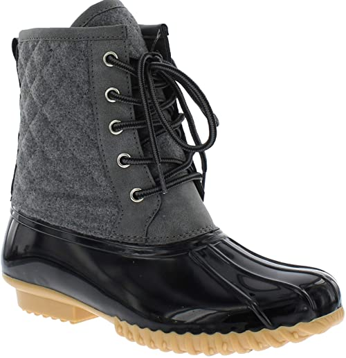Amazon.com | sporto Womens Delanie Wool Blend Duck Boot | Boo
