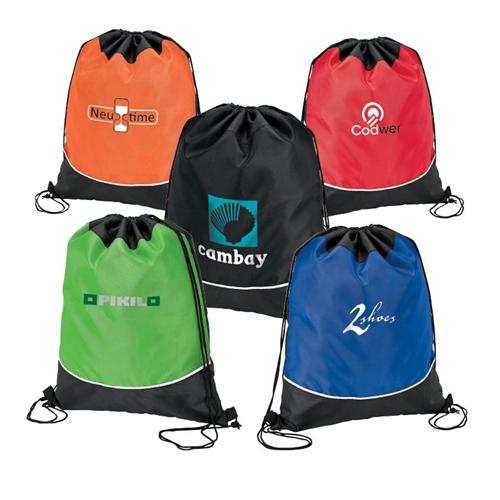 Custom Drawstring Sport Bags | Custom Accented Drawstring Sport .