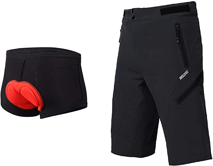 Amazon.com: ARSUXEO Outdoor Sports Men's MTB Cycling Shorts .