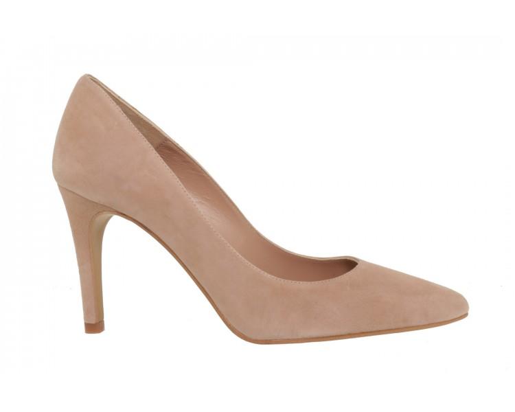 Stilettos shoes nude suede heel 9 cm. CLA